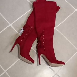 """Shoe Dazzle over the knee boots with 5"""" heels"""